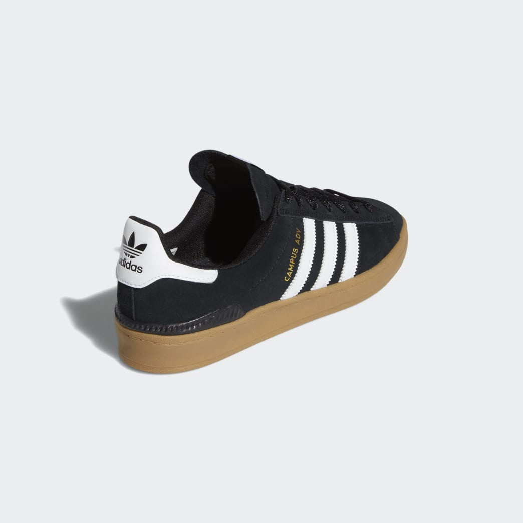 Adidas Campus ADV Shoes - Core Black/Cloud White/Gum 4 | Shoes by adidas Skateboarding 6
