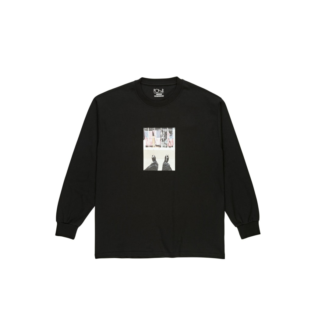 Polar Skate Co Happy Sad Around The World Long Sleeve T-Shirt - Black | Longsleeve by Polar Skate Co 1