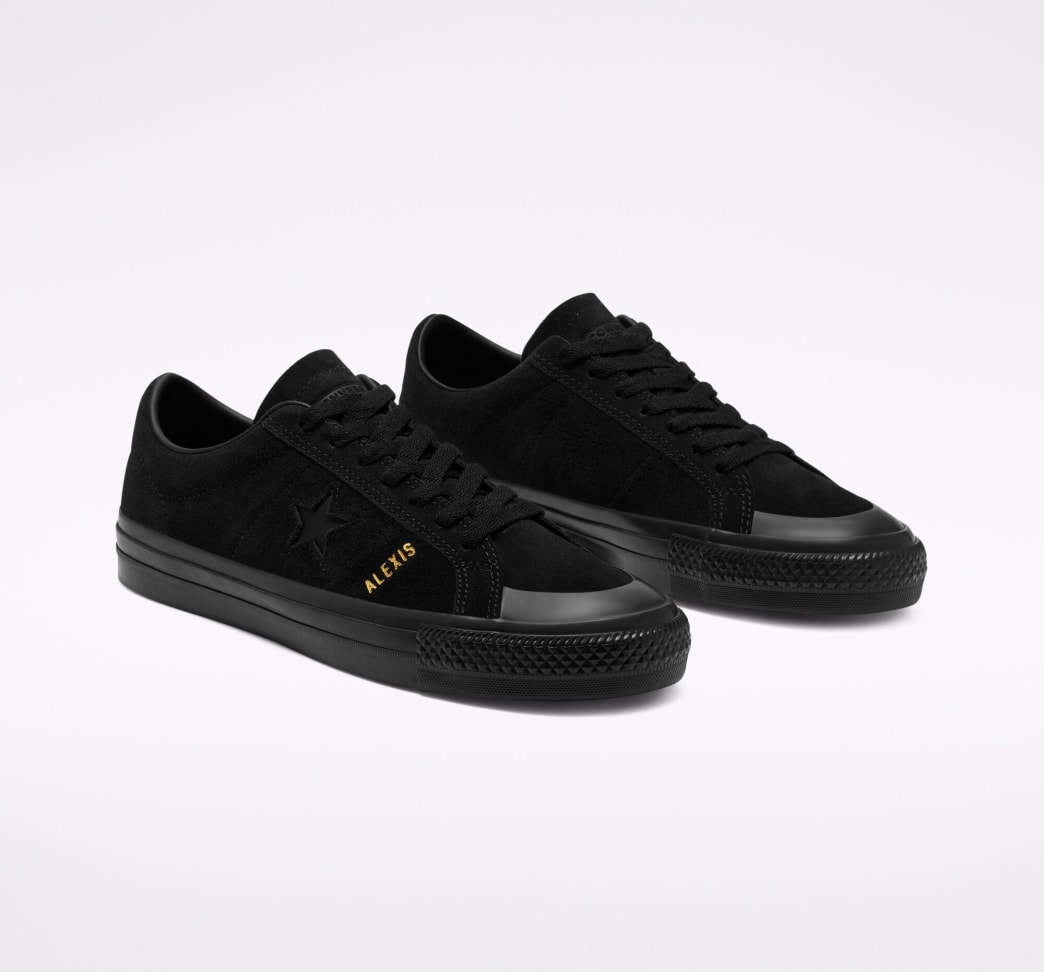 Converse CONS One Star Pro AS Low Top Shoes - Black / Black / Black   Shoes by Converse Cons 5