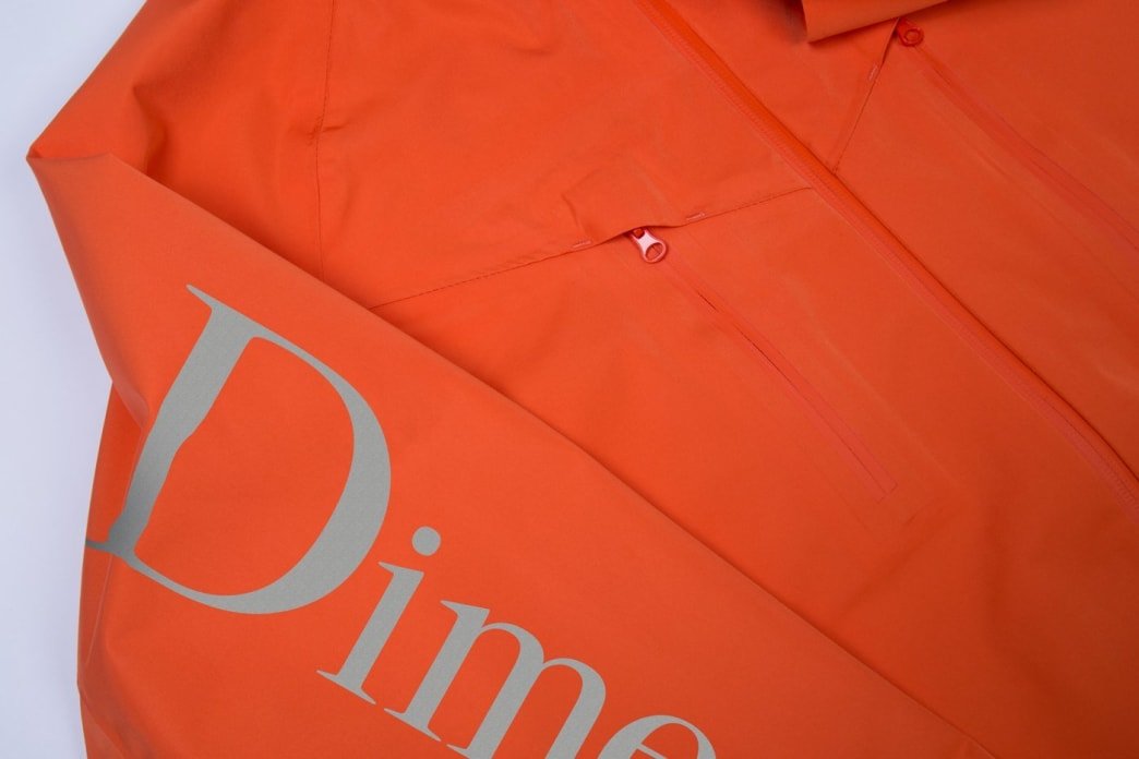 Dime Classic Logo Shell Jacket - Orange | Jacket by Dime MTL 4