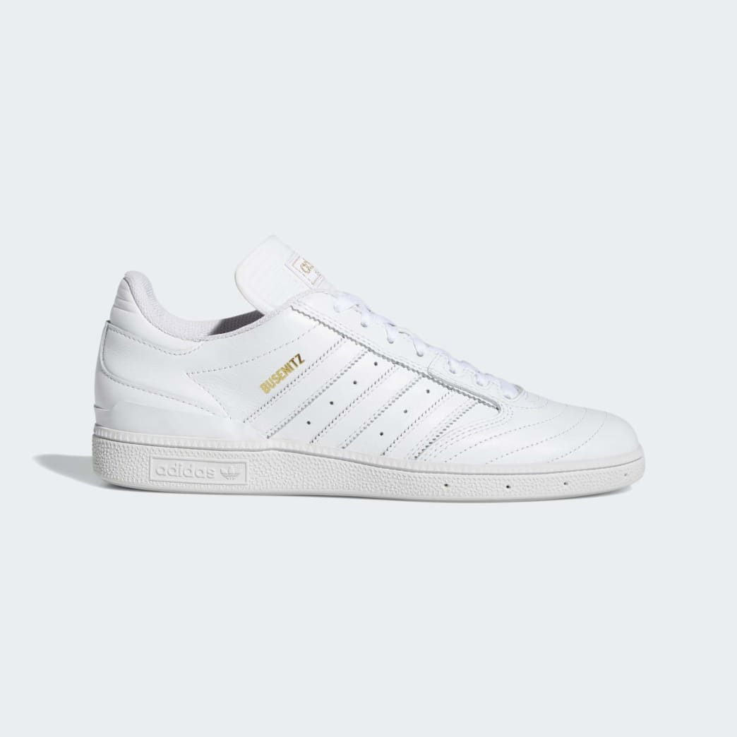 Adidas Busenitz Shoes - Cloud White/Gold Metallic/Cloud White | Shoes by adidas Skateboarding 1