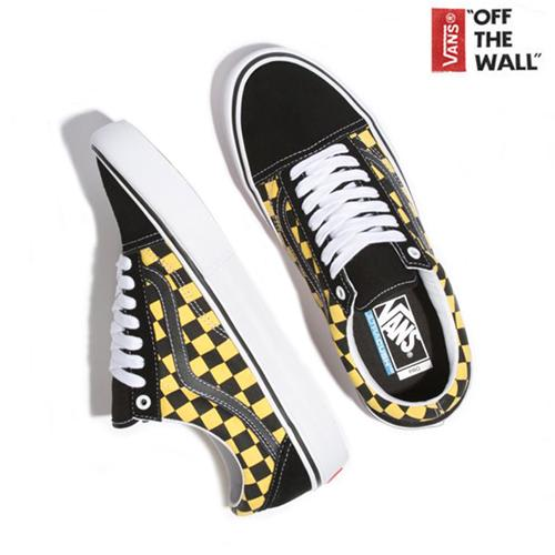 Vans Old Skool Pro - Black/Yellow Checkered   Shoes by Vans 4