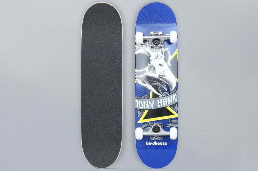 Birdhouse 7.25 Oversized Skull Stage 1 Complete Skateboard Blue | Complete Skateboard by Birdhouse 1
