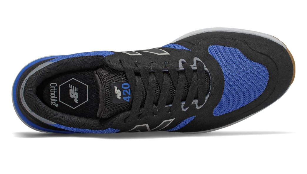 New Balance Numeric 420 Skate Shoe - Black / Blue | Shoes by New Balance 3