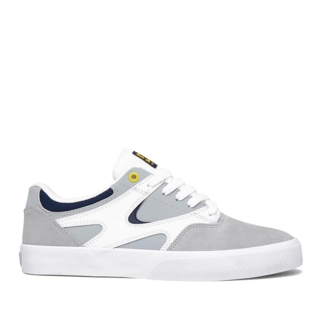 DC Kalis Vulc Skate Shoes - White / Grey / Grey   Shoes by DC Shoes 1