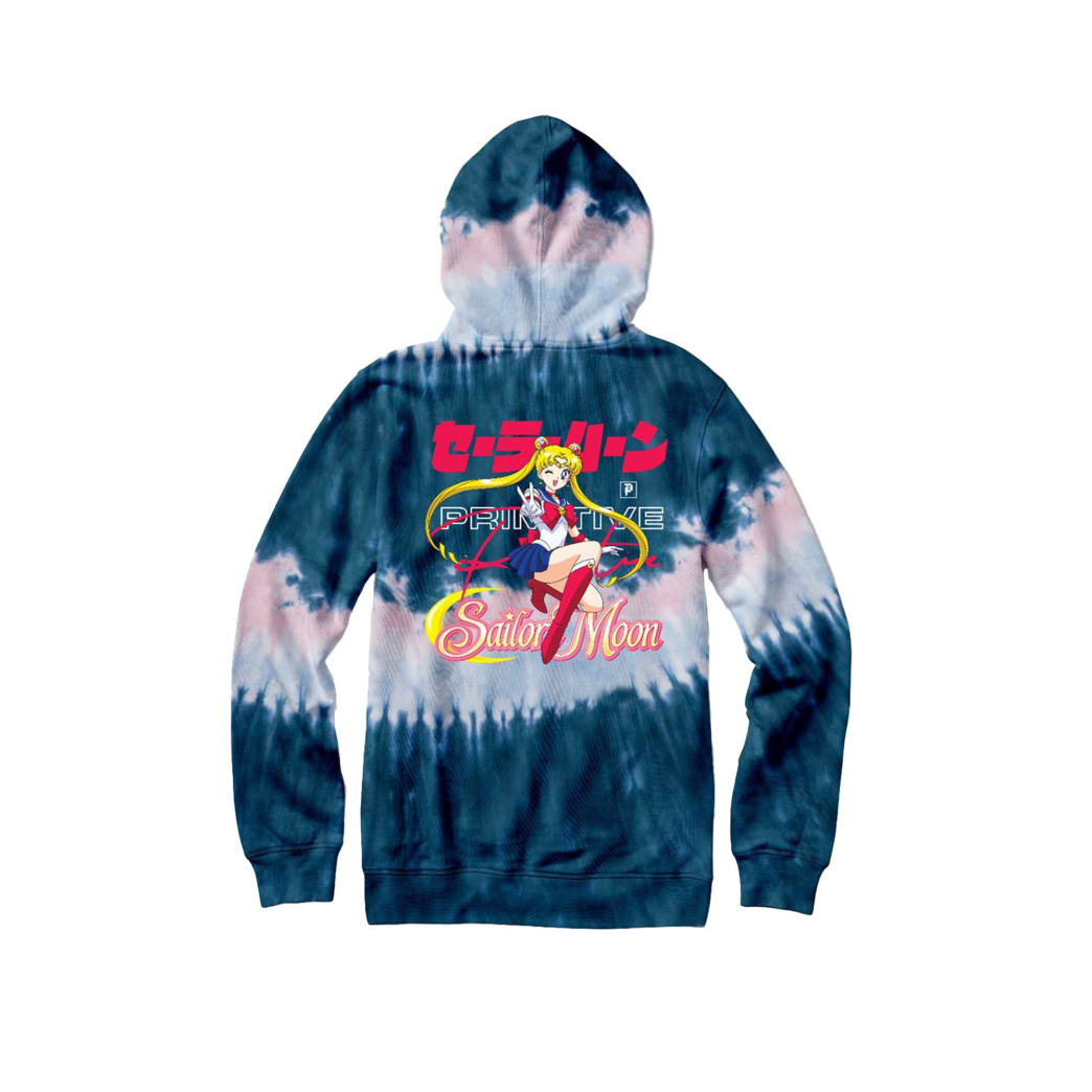 Primitive Skateboards Sailor Moon Hoodie - Tie-Dye | Hoodie by Primitive Skateboards 1