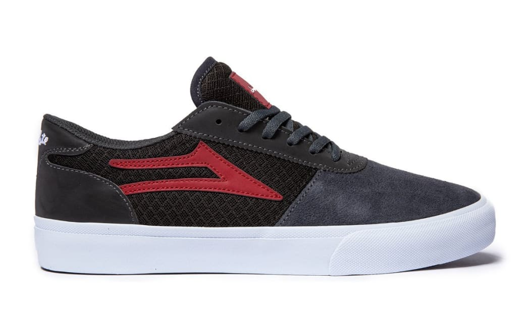 Lakai x Chocolate Manchester Skate Shoes - Grey / Reflective Suede | Shoes by Lakai 1