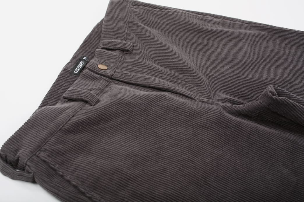Theories Stamp Work Pant Cord Pewter   Trousers by Theories of Atlantis 3