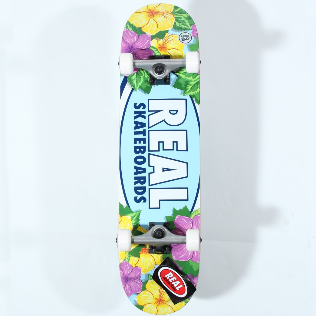 Real Skateboards flowers Complete - 8"