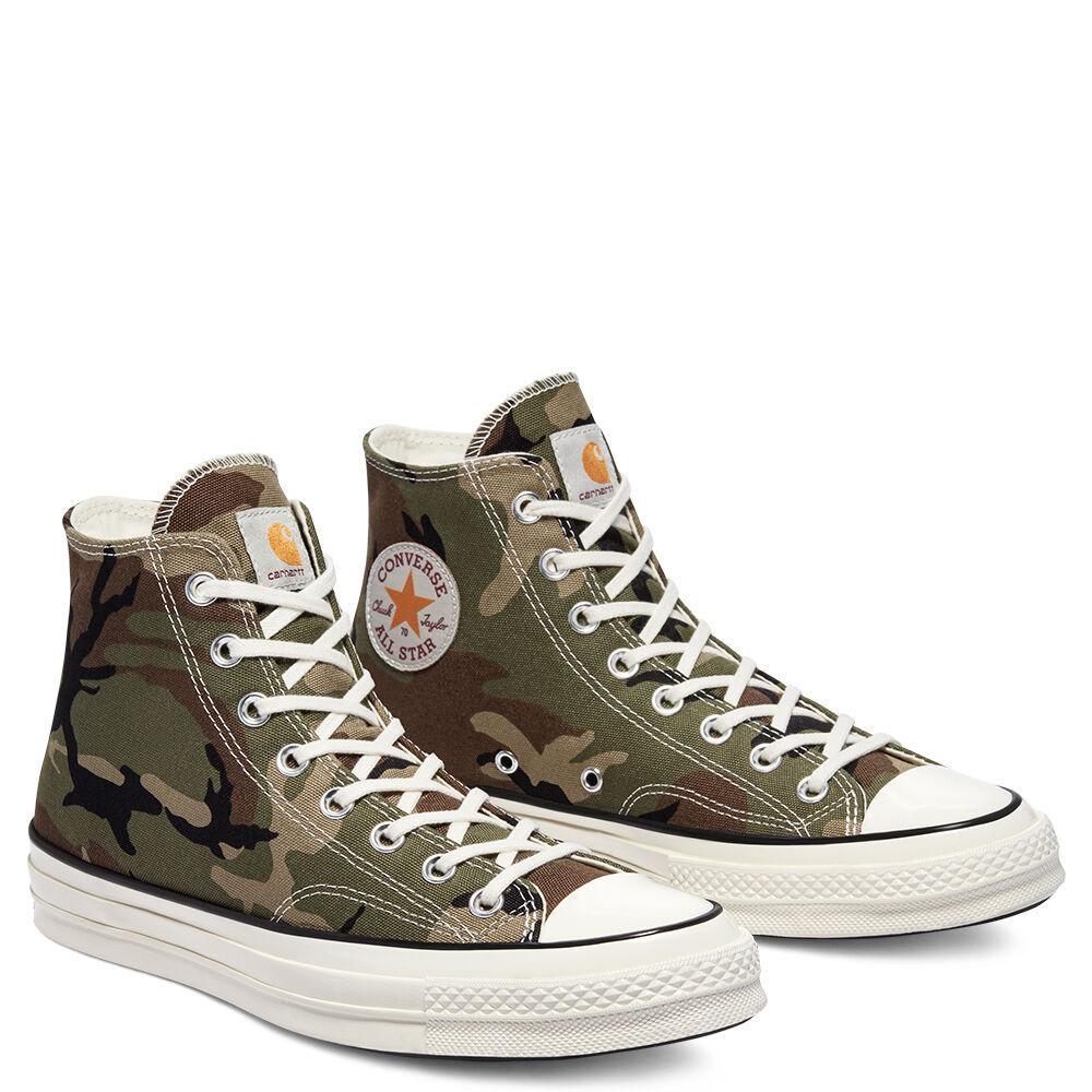 Converse x Carhartt WIP Chuck 70 High Top Shoes - Covert Green / Dark Earth / Egret   Shoes by Converse Cons 2