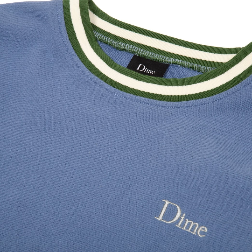 Dime Classic French Terry Crewneck - Blue | Sweatshirt by Dime MTL 2