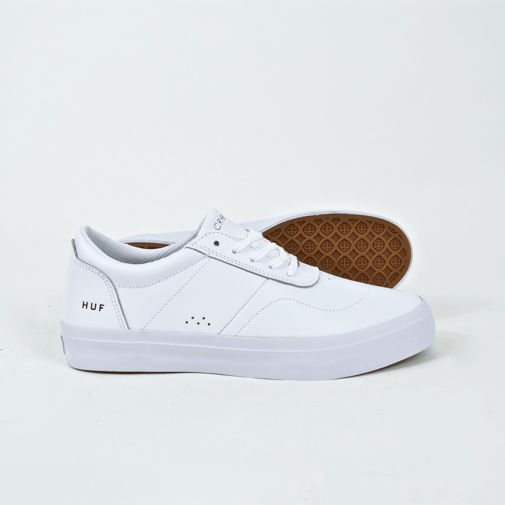 Huf - Cromer 2 Shoes - White / White (Leather) | Shoes by HUF 2