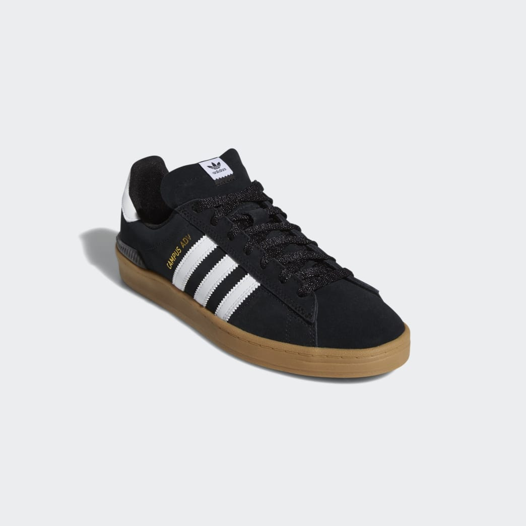 Adidas Campus ADV Shoes - Core Black/Cloud White/Gum 4 | Shoes by adidas Skateboarding 5