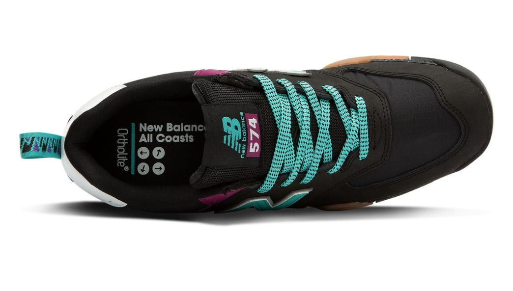 New Balance All Coasts AM574 Shoes - Black / Mint | Shoes by New Balance 3