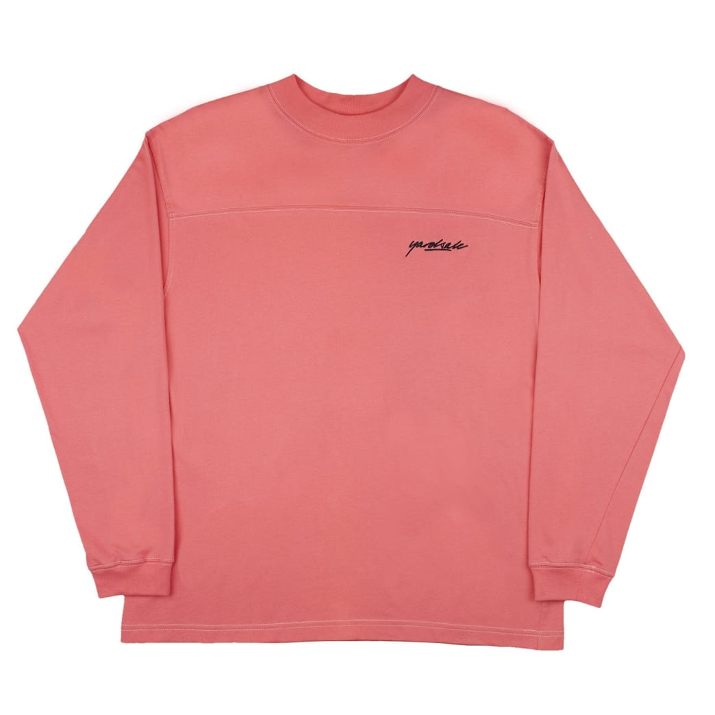 Yardsale Script Polo Long Sleeve - Pink | Longsleeve by Yardsale 1