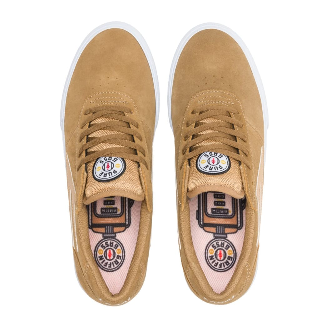 Lakai Manchester Griffin Gass Suede Skate Shoes - Walnut | Shoes by Lakai 4