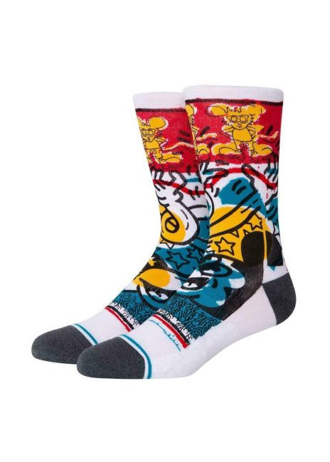Stance Socks - Stance x Disney Primary Haring Socks | White | Socks by Stance Socks 1