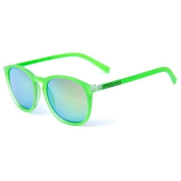 Happy Hour Provost Flap Jacks - Fluorescent Frosted Green | Sunglasses by Happy Hour 2
