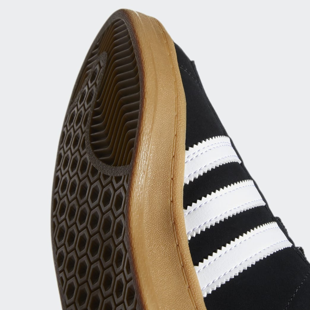 Adidas Campus ADV Shoes - Core Black/Cloud White/Gum 4 | Shoes by adidas Skateboarding 9