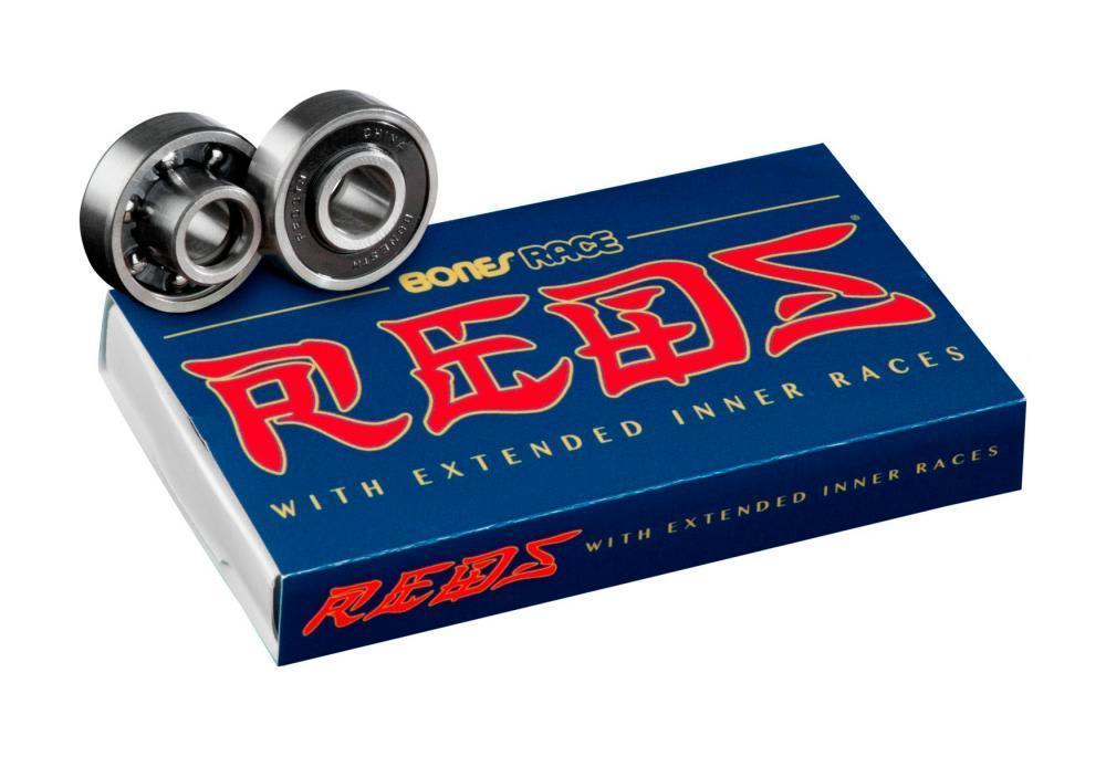 Bones Race Reds Skateboard Bearings 8 Pack | Bearings by BONES 1