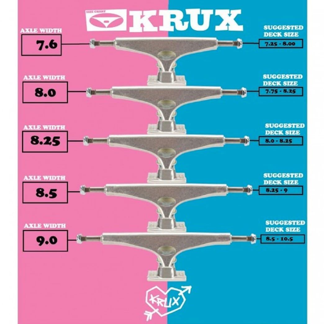 Krux K5 Polished Standard Skateboard Trucks | 8.25"