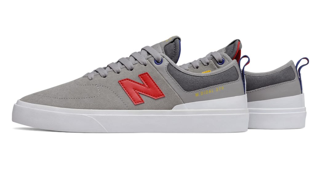 New Balance Numeric 379 Skate Shoe - Grey / Red / Blue   Shoes by New Balance 6