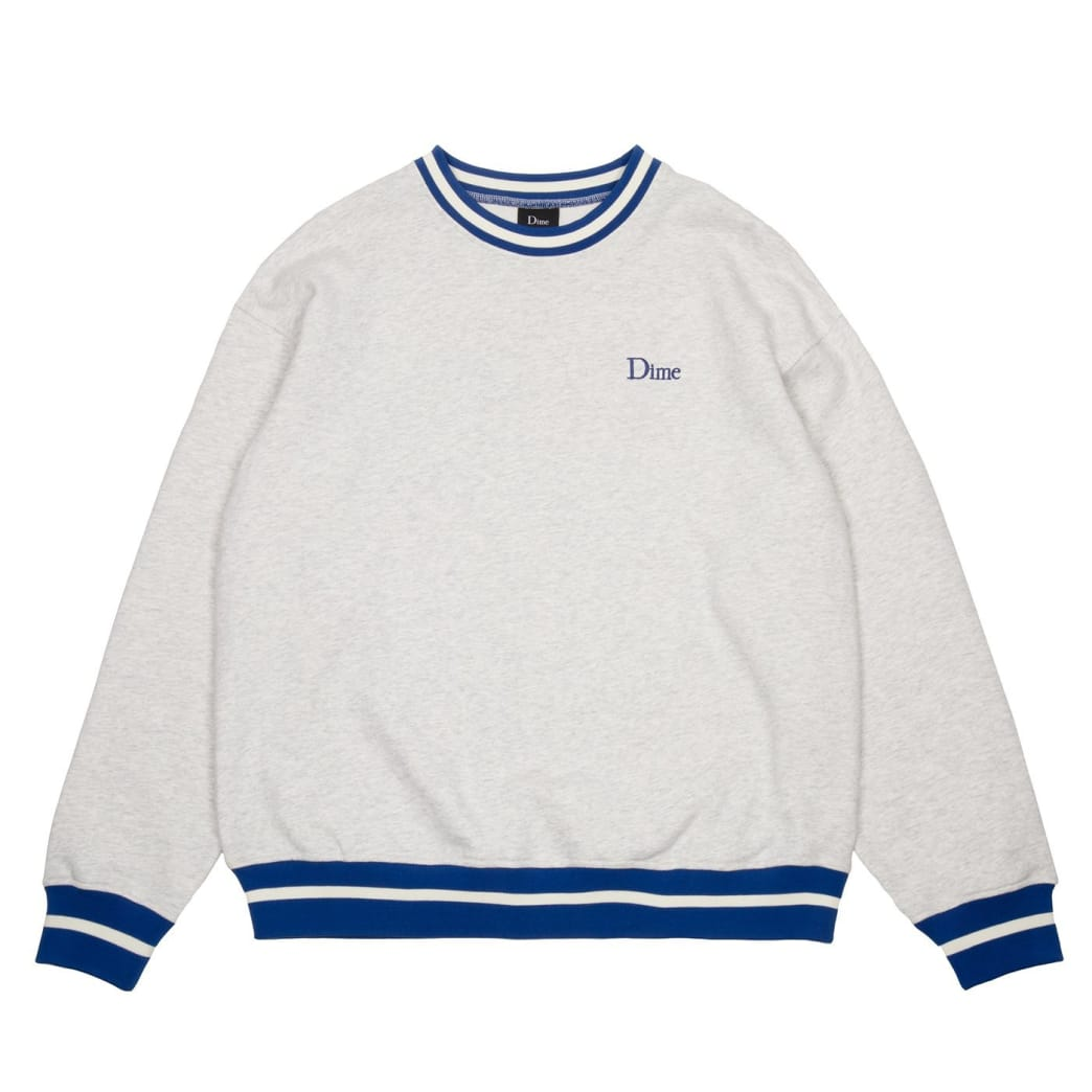 Dime Classic French Terry Crewneck - Ash   Sweatshirt by Dime MTL 1