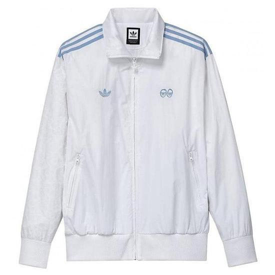 adidas x Krooked Tracksuit Top - White / Clear Blue   Track Jacket by adidas Skateboarding 1