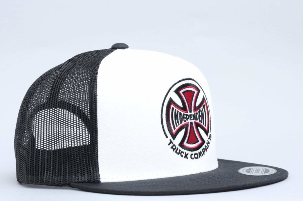 Independent Truck Co Mesh Cap White / Black | Trucker Cap by Independent Trucks 1