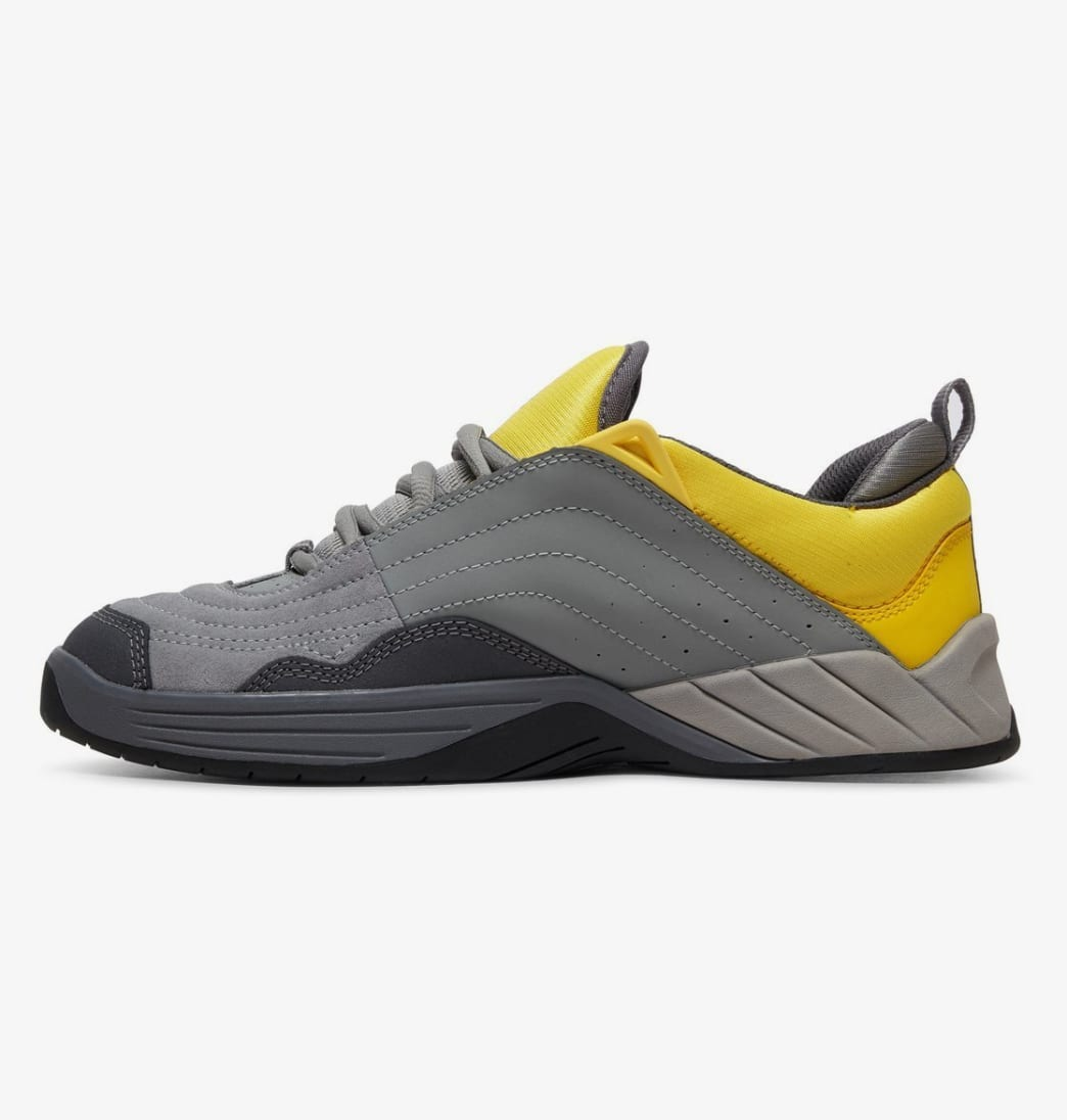 DC Williams Slim S Skateboarding Shoes - Grey/Yellow | Shoes by DC Shoes 3