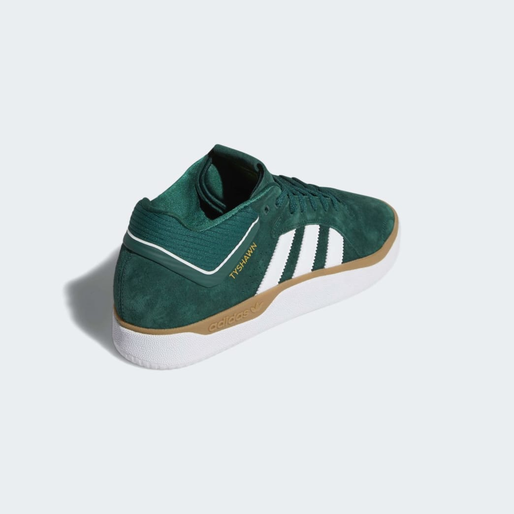 adidas Tyshawn Jones Shoes - Collegiate Green/Cloud White/Gum | Shoes by adidas Skateboarding 5