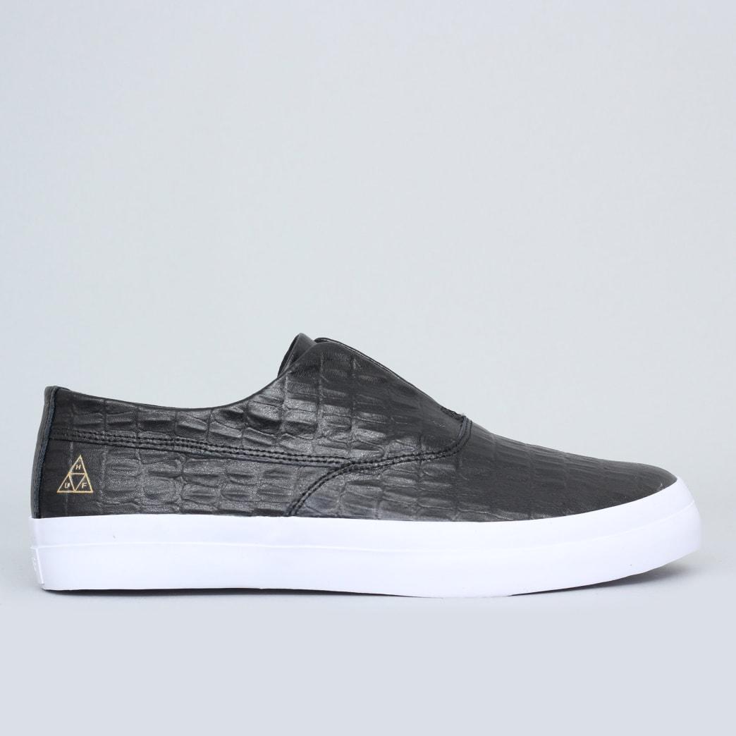 8c2c1a8999 Shop HUF Dylan Slip On Shoes Black Leather Croc