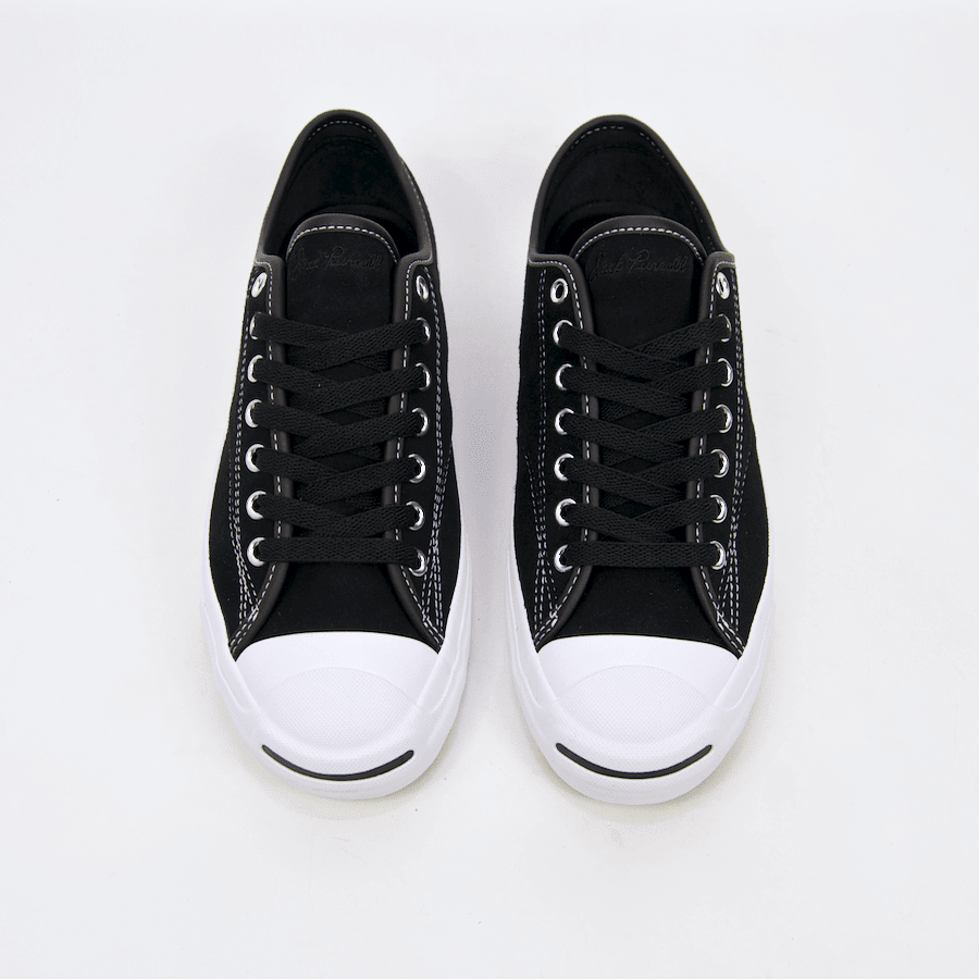 Converse Cons - Jack Purcell Pro OX (Suede) Shoes - Black / Black / White | Shoes by Converse Cons 5