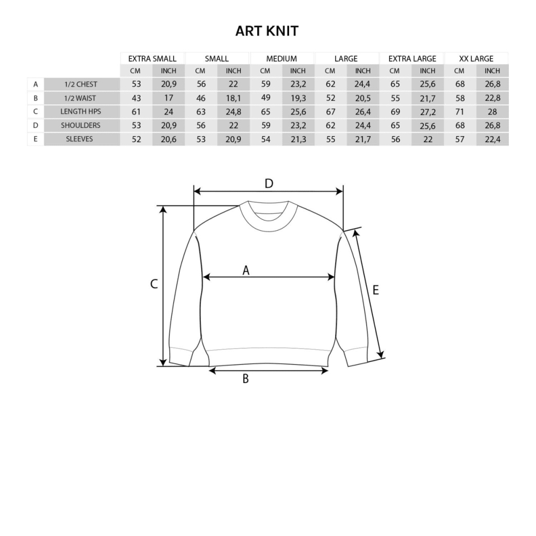 Polar Skate Co Square Logo Knitted Sweater - Blue / Black / Ivory | Sweatshirt by Polar Skate Co 4