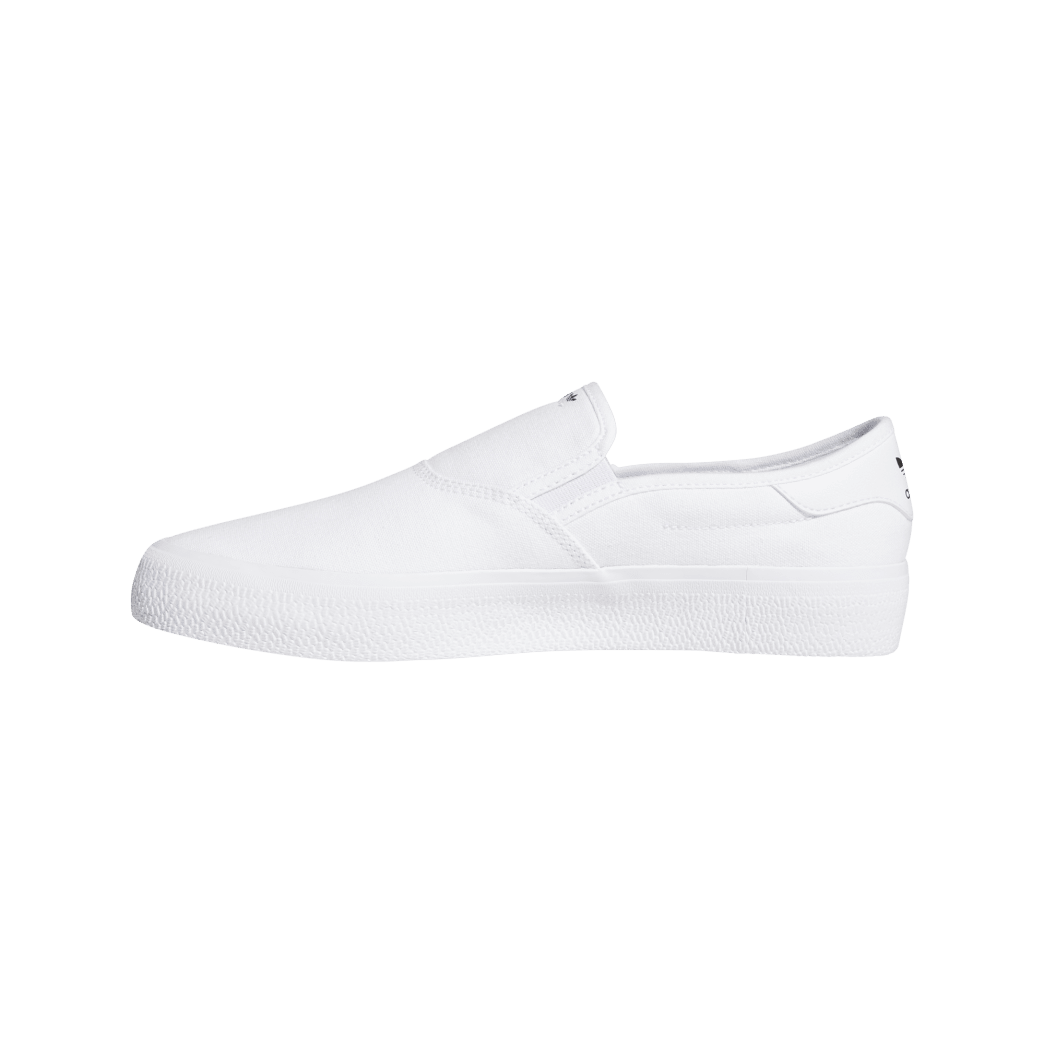adidas 3MC Slip-On Skate Shoes - Cloud White / Cloud White / Core Black | Shoes by adidas Skateboarding 2