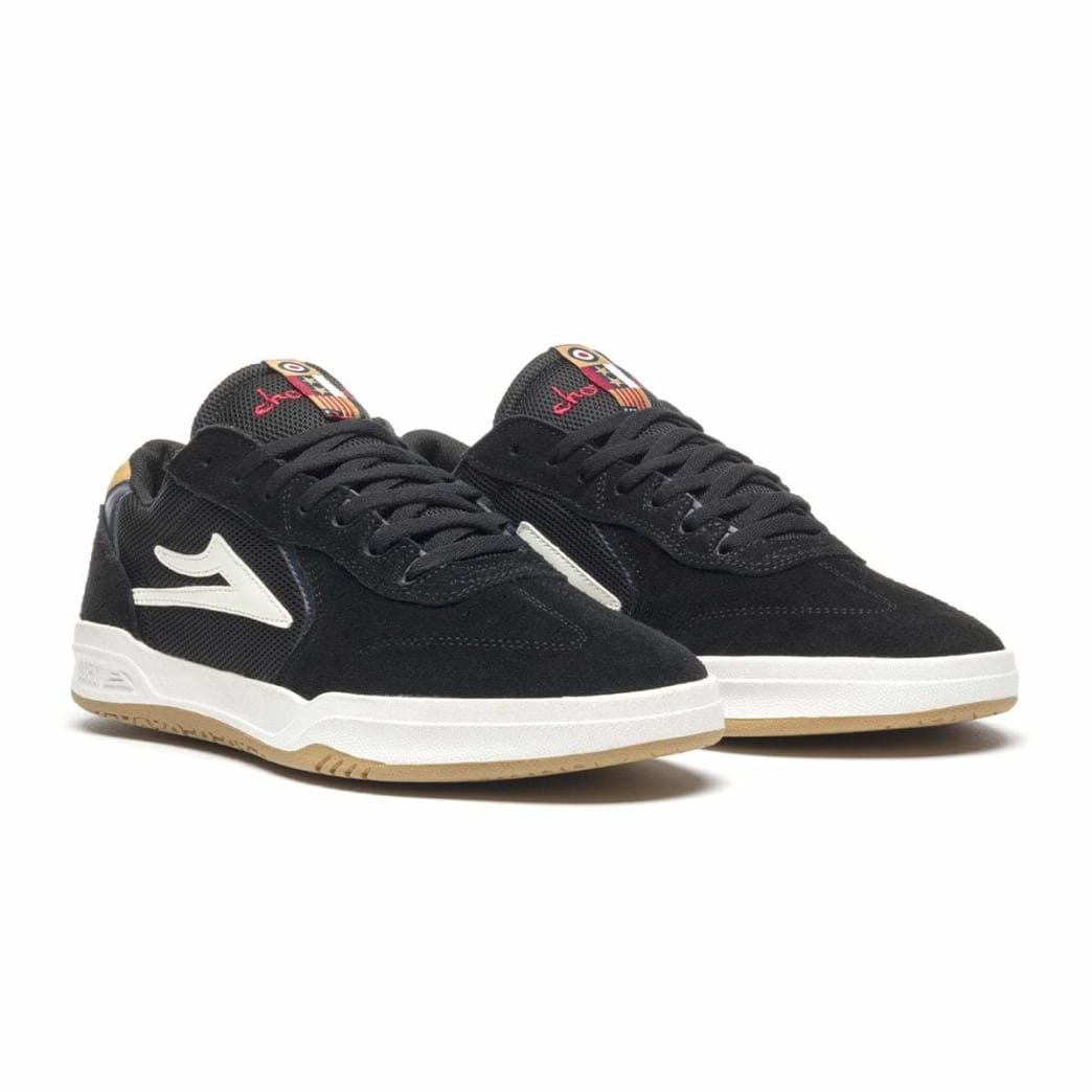 Lakai x Chocolate Skateboards Atlantic Suede Skate Shoes - Black / Yellow | Shoes by Lakai 2
