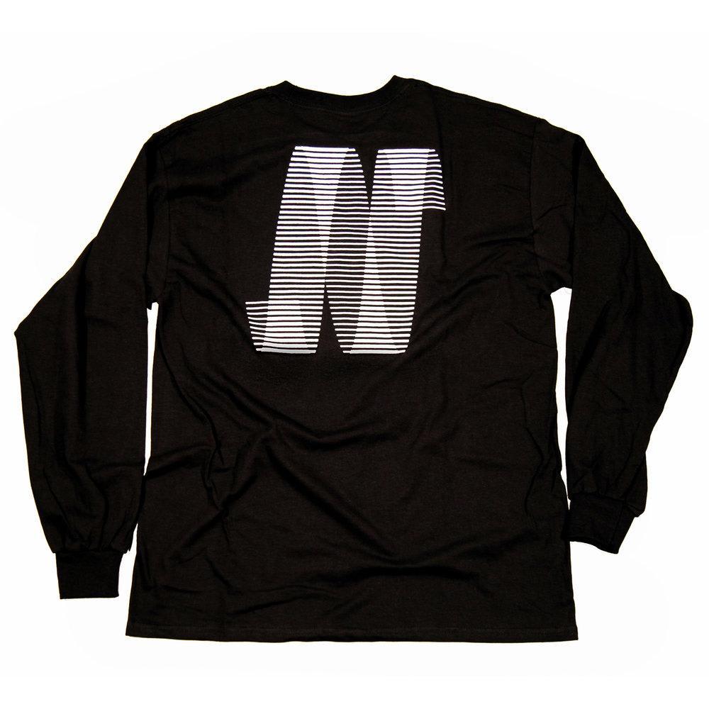 North N Logo Long Sleeve T-shirt - Black/White | T-Shirt by North Magazine 1