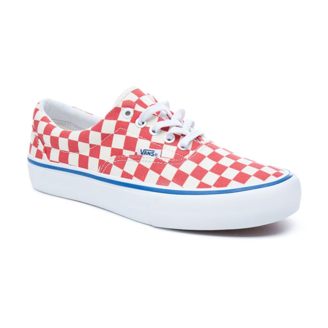 Vans Checkerboard Era Pro Skateboard Shoes - Rococco Red/Classic White | Shoes by Vans 4