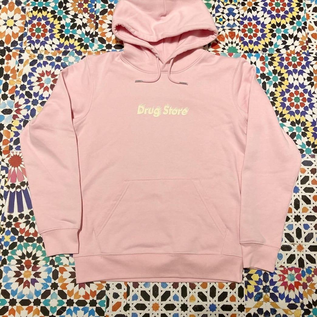 DRUG STORE HOT! logo hood Pink | Hoodie by Drug Store 1