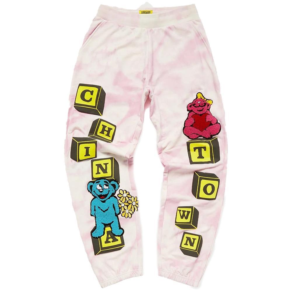 Chinatown Market Be Mine Sweatpants - Pink Tie Dye | Sweatpants by Chinatown Market 1