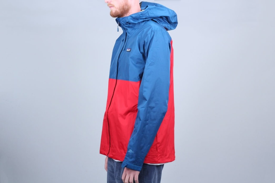 Patagonia Torrentshell Jacket Big Sur Blue W / Fire Red | Jacket by Patagonia 2