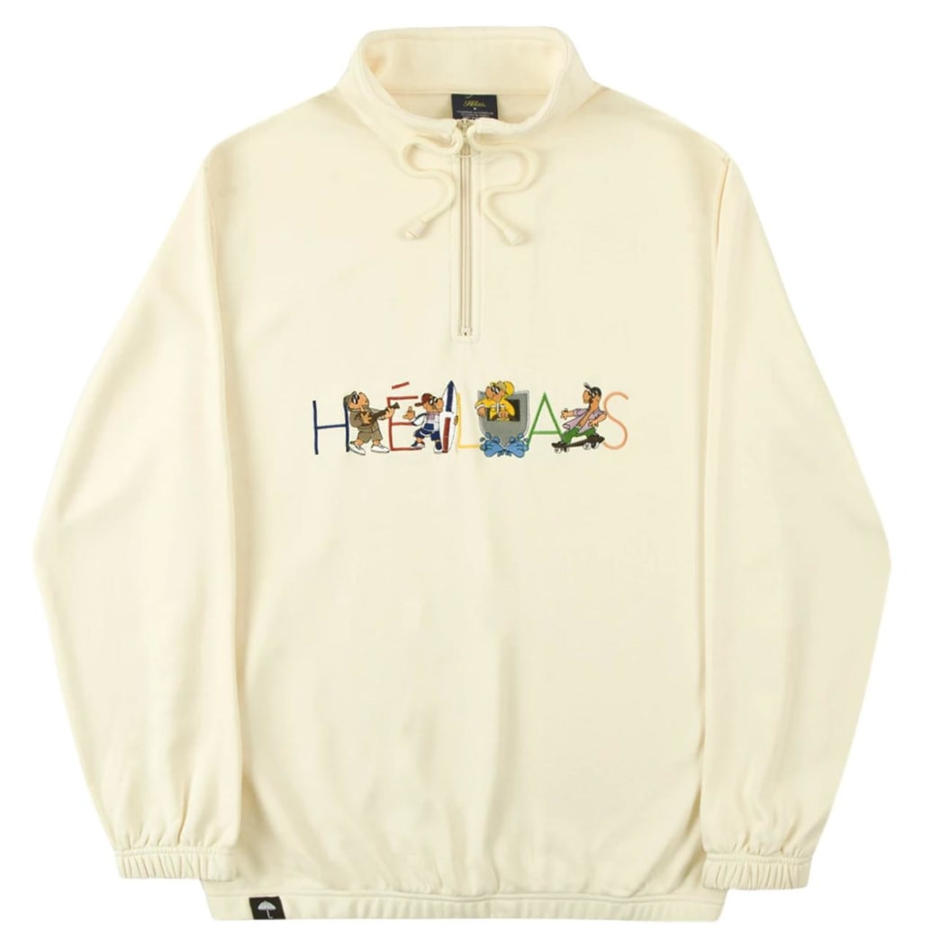 Helas Summer Jam Quarter Zip Pastel Yellow | Sweatshirt by Helas 1