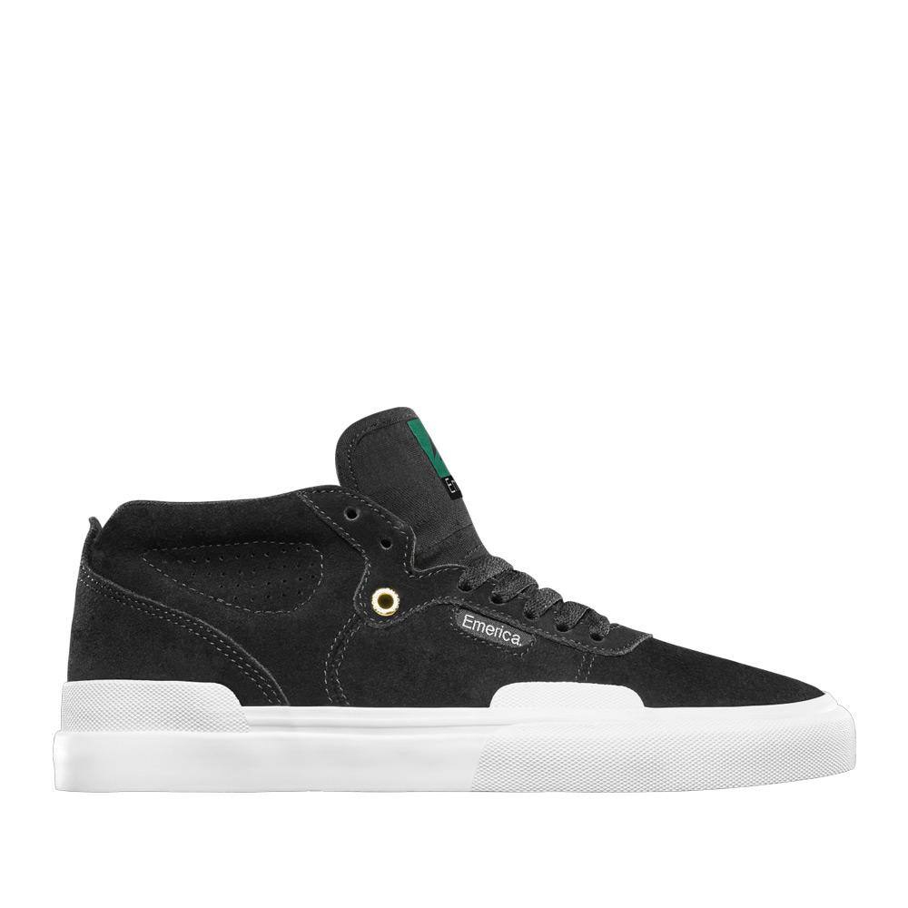 Emerica Pillar Skate Shoes - Black / White / Gold | Shoes by Emerica 1