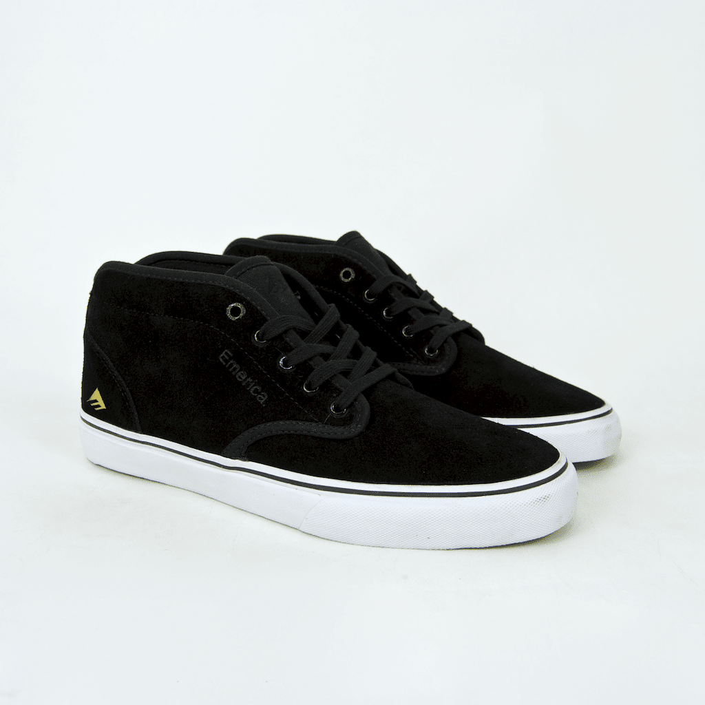 Emerica - Wino G6 Mid Shoes - Black / White / Gold | Shoes by Emerica 1