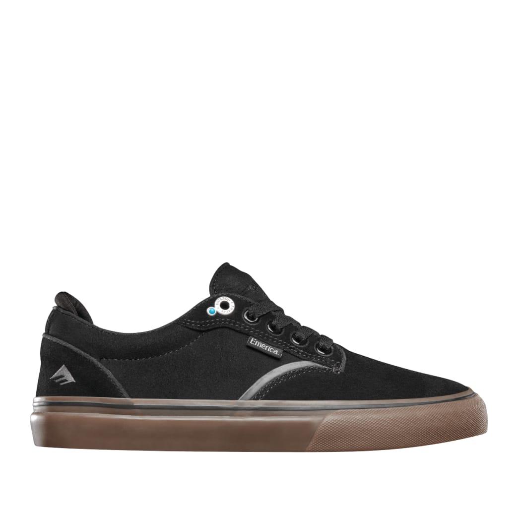 Emerica Dickson Skate Shoes - Black / Gum | Shoes by Emerica 1