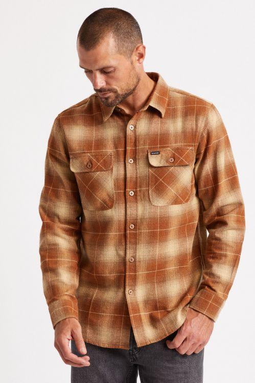 BRIXTON BOWERY L/S FLANNEL - COPPER | Shirt by Brixton 2