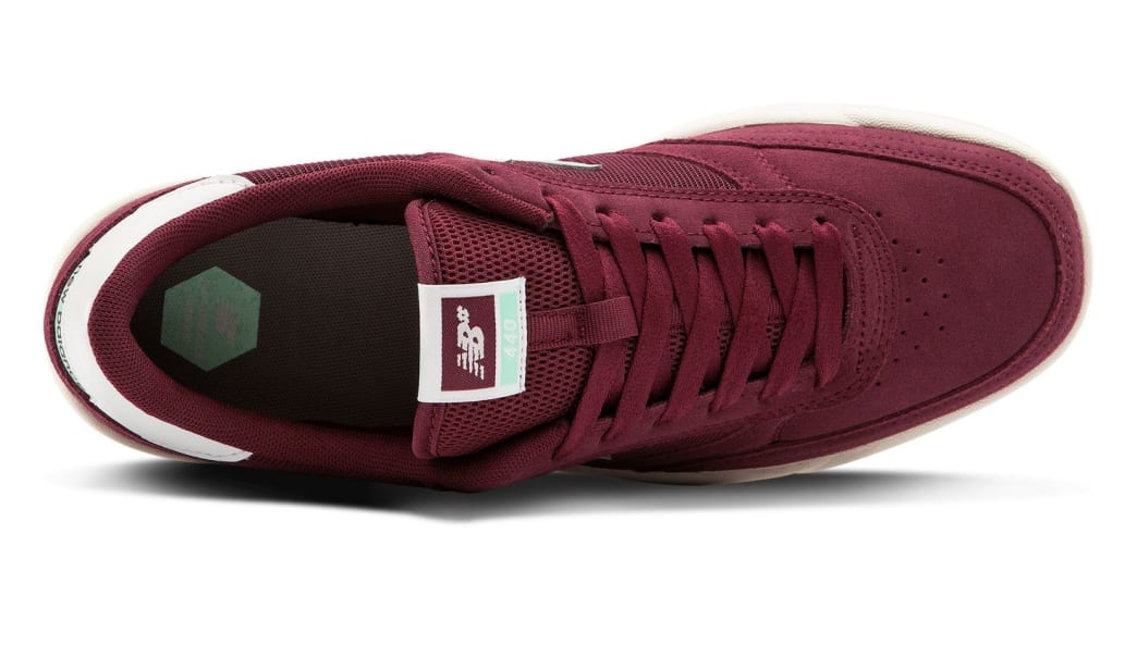 New Balance Numeric 440 Skate Shoe - Burgundy / Grey | Shoes by New Balance 3