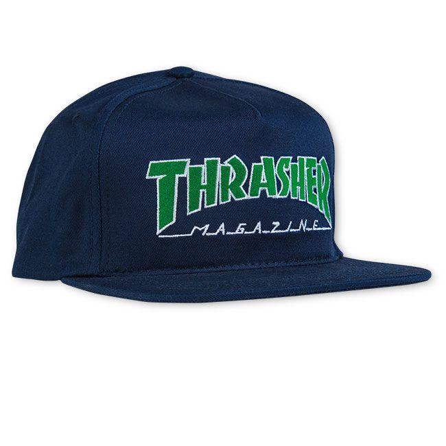 Thrasher Outlined Snapback Cap Navy/Blue | Cap by Thrasher 1