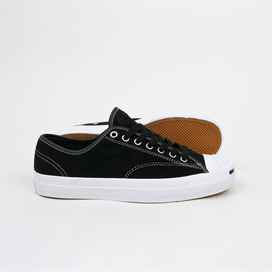 Converse Cons - Jack Purcell Pro OX (Suede) Shoes - Black / Black / White | Shoes by Converse Cons 2