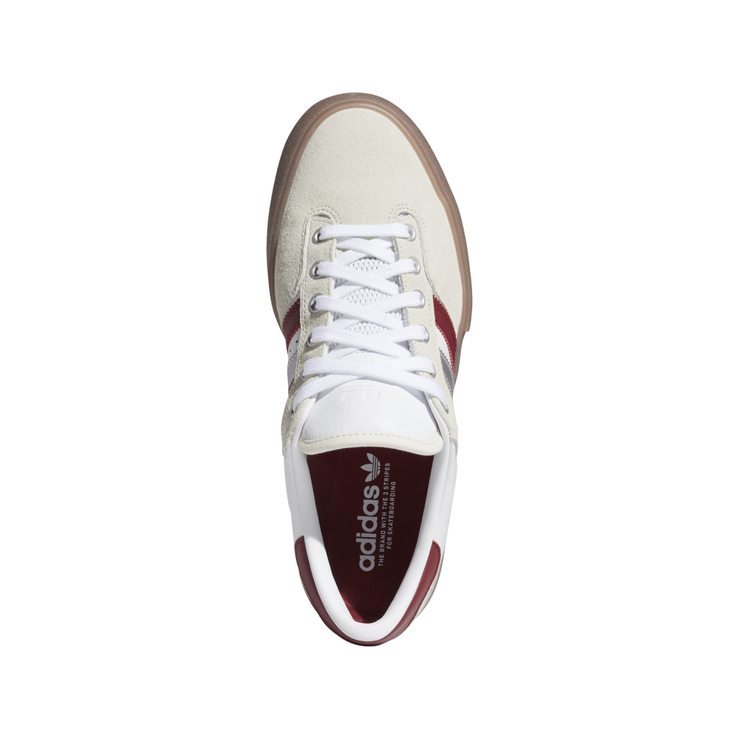 Adidas Matchbreak Super Shin Sanbongi Skateboarding Shoes - FTWR White / Collegiate Burgundy / Gum 4 | Shoes by adidas Skateboarding 2